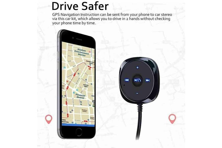 AUX-in USB Car Kit FM Transmitter MP3 Player Magnetic Handsfree Bluetooth Charge