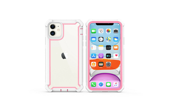 Protective Shockproof Bumper Hybrid Case Cover - iPhone 7Plus/8Plus- Black/Pink