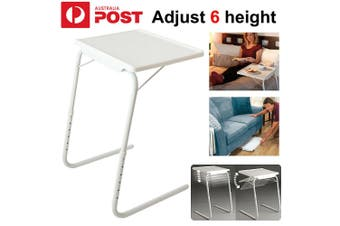 FOLDABLE TABLE LAPTOP ADJUSTABLE TRAY BED PORTABLE DESK MATE TV DINNER STUDY AU