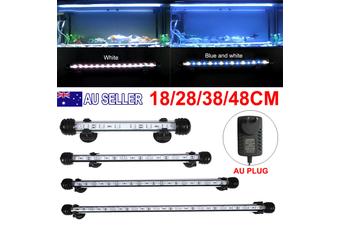 Aquarium Fish Tank LED Light Bar Lamp Pool Submersible Waterproof SMD - White+Blue / 18CM