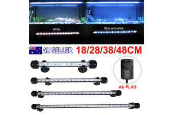 Aquarium Fish Tank LED Light Bar Lamp Pool Submersible Waterproof SMD - White+Blue / 38CM