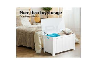 Kids Toy Box Storage Chest Cabinet Children Organiser White Container