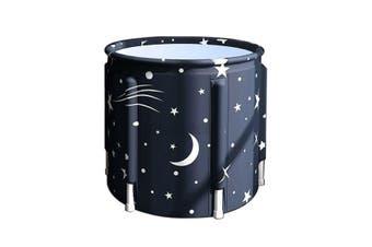 Folding Portable PVC Adult Bathtub Water Spa Tub Bath Bucket Outdoor Bath Tub AU-Type #C Starry Sky