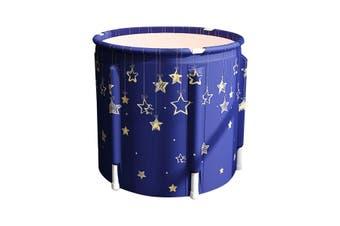 Folding Portable PVC Adult Bathtub Water Spa Tub Bath Bucket Outdoor Bath Tub AU-Type #D Golden Stars