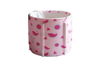 Folding Portable PVC Adult Bathtub Water Spa Tub Bath Bucket Outdoor Bath Tub AU-Type #E Watermelon