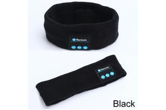 Wireless Bluetooth Headband Earphone Stereo Sport Headphone Headset Sleep AU-Black