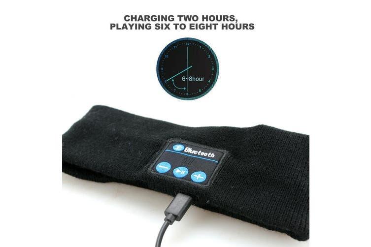 Wireless Bluetooth Headband Earphone Stereo Sport Headphone Headset Sleep AU-Grey