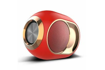 Wireless Bluetooth 5.0 Speaker TF/U disk/AUX/FM 3D Stereo Super Bass Subwoofer-Red