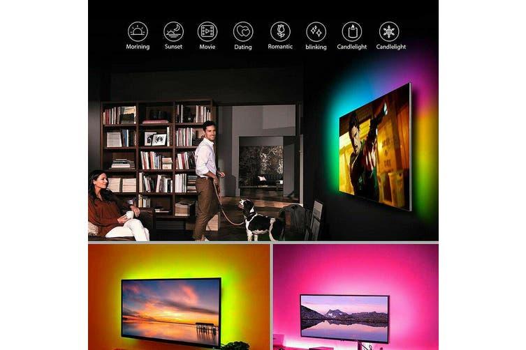 RGB LED Strip Lights IP65 Waterproof 5050 3M 300 LEDs 12V USB Bluetooth-3M-180LED