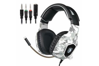 Sades 3.5mm Gaming Headset Headphones Surround Mic for PC Laptop PS4 Xbox One-Camo