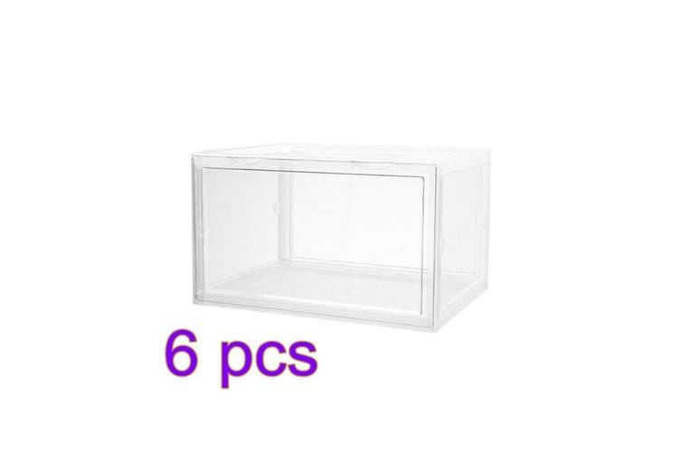 6 x Box Sneaker Display Cases Shoe Box Clear Magnetic Door 36x28x22cm