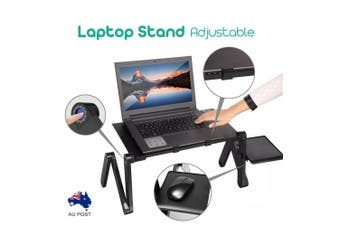 New Portable Foldable Laptop Stand Desk Table Tray Adjustable Sofa Bed Mouse Pad
