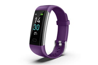 Bluetooth Smart Bracelet Fitbit Style Heart Rate Monitor Watch Pedometer Tracker(Purple)