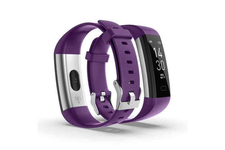 Bluetooth Smart Bracelet Fitbit Style Heart Rate Monitor Watch Pedometer Tracker(Purple)