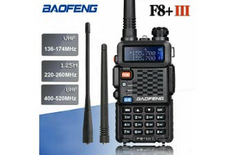 BAOFENG BF-F8+ III FM Tri-Band Walkie Talkie 5W Two Way Radio Long Range