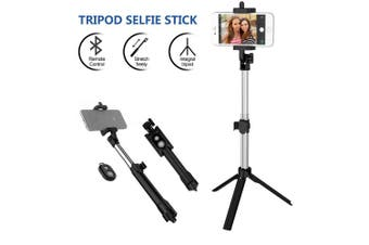 Unipod Selfie Stick Handheld Tripod Bluetooth Shutter For iPhone Samsung