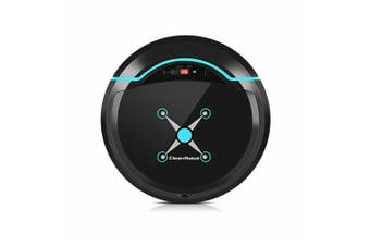 Rechargeable Automatic Smart Robot Vacuum Cleaner Edge Cleaning Suction Sweeper-Black color