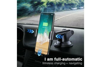 Baseus USB Qi Wireless Car charger Mount Holder for iPhone XS XR 8 Samsung S10