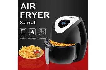 8in1 Air Fryer 6.5L LCD 1700W Oil Free Low Fat Healthy Cooker Kitchen Oven Black