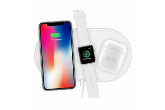 3in1 QI Wireless charger charging Station Dock for Apple Watch / iPhone/ AirPods-White