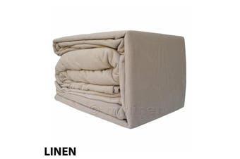 Egyptian Cotton Flannelette Sheet Set-DoubleBed-Linen