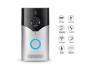 WiFi Wireless Smart Doorbell Video Camera Night Version PIR Door Bell Intercom-Silver Doorbell Only