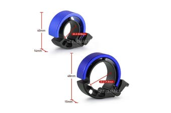 90db Invisible Bicycle Bell Aluminum Bike Handlebar Alarm Horn For 22.2mm-Blue