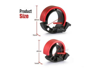 90db Invisible Bicycle Bell Aluminum Bike Handlebar Alarm Horn For 22.2mm-Red
