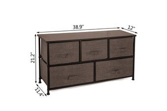 Fabric 5 Drawer Storage Tower Organizer Shelf Storage Cabinet Storage Chest