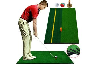 Portable Outdoor Backyard Home Golf Training Aids Hitting Pad Practice Grass Mat