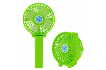 Mini Portable Hand-held Desk Fan Cooling Cooler USB Air Rechargeable Conditioner Green