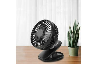 Portable Mini Fan Clip-on Desk USB Rechargeable Battery Fan Office Outdoor Pram