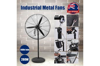 75cm Industrial Fan Air Cooling Oscillating Tilt O-Pedestal Fan