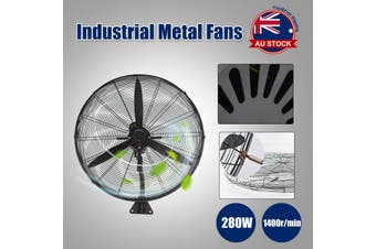 75cm Industrial Fan Air Cooling Oscillating Tilt O-Wall Mount