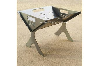Fire Pit for Caravan, Camping and Backyard.Flat packed firepit, flat pack (40cm)