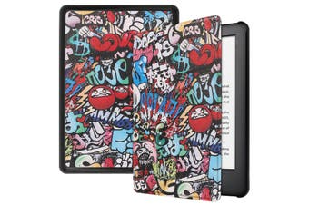 "For Amazon Kindle 2019 10th 6"" Inch Case Smart Magnetic Flip Leather Slim Cover-Doodling"