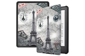 "For Amazon Kindle 2019 10th 6"" Inch Case Smart Magnetic Flip Leather Slim Cover-EiffelTower"