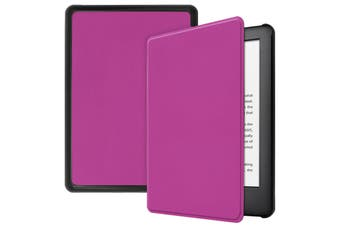 "For Amazon Kindle 2019 10th 6"" Inch Case Smart Magnetic Flip Leather Slim Cover-Purple"