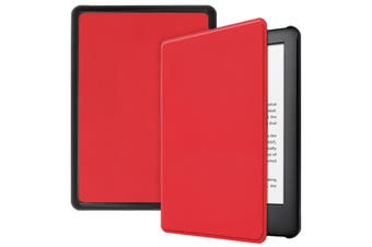 "For Amazon Kindle 2019 10th 6"" Inch Case Smart Magnetic Flip Leather Slim Cover-Red"