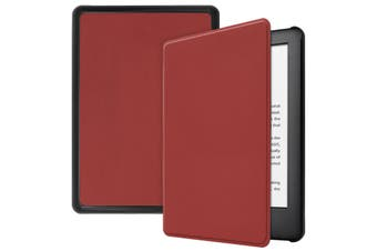 "For Amazon Kindle 2019 10th 6"" Inch Case Smart Magnetic Flip Leather Slim Cover-Winered"