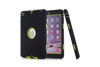Heavy Duty ShockProof Case Cover For iPad 5th 9.7 Inch 2017-Black/Green