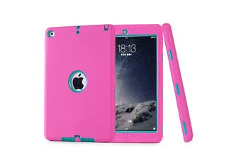 Heavy Duty ShockProof Case Cover For iPad 6th 9.7 Inch 2018-Hot Pink