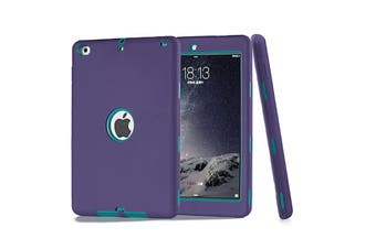 Heavy Duty ShockProof Case Cover For iPad Air-Purple