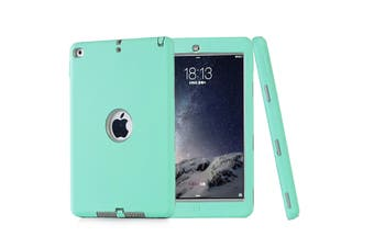 Heavy Duty ShockProof Case Cover For iPad Air 2-Mint Green/Grey