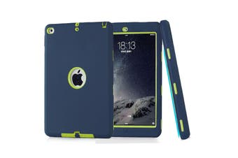 Heavy Duty ShockProof Case Cover For iPad Air 2-Navy Blue/Green