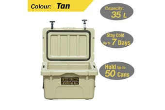 35L Hard Cooler Ice Box Chilly Bin Esky Camping Picnic Fishing 2in1 Thermal Cont