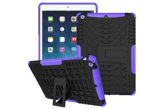 "Heavy Duty Shockproof Case Cover For Apple iPad 8th Gen 10.2"" 2020-Purple"