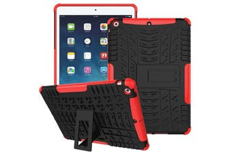 """Heavy Duty Shockproof Case Cover For Apple iPad 8th Gen 10.2"""" 2020-Red"""