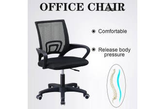 PU Leather & Mesh Office Chair Computer Eames Replica Home Executive Seat-Soft Waist Support