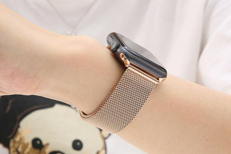 Apple Watch Series 5 4 3 2 1 Milanese Magnetic Stainless Loop Strap Band 42mm 44mm Iwatch Rose Gold Kogan Com